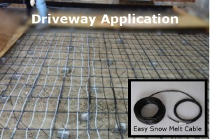 Driveway Application - Snow Melting System