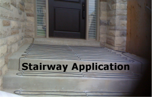 Snow Melting System - Stairway Application
